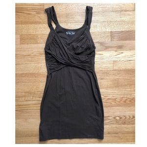 Brown fitted dress